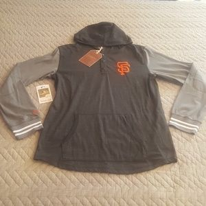 huge selection of d7970 8ee72 Mitchell & Ness SF Giants lightweight hoodie Large NWT